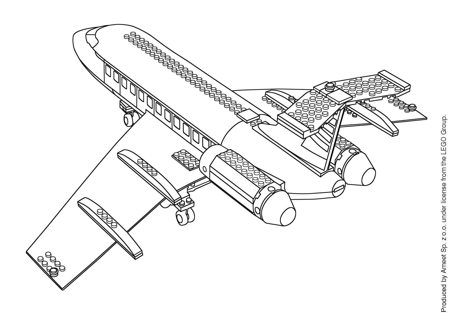 Coloriage Dans L Avion: Clubdemax.com, Coloriage Lego City Avion